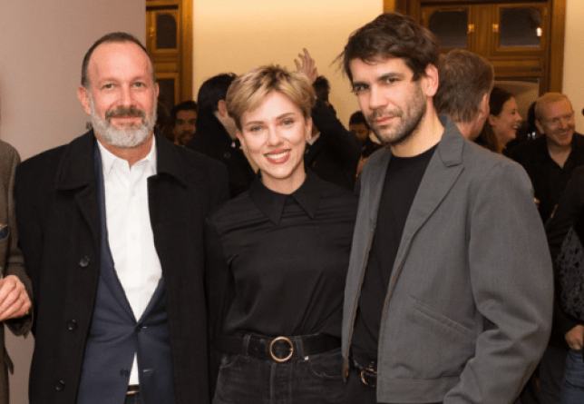 Scarlett Johansson and husband Romain Dauriac at the exhibition (Picture: BFA/REX/Shutterstock)