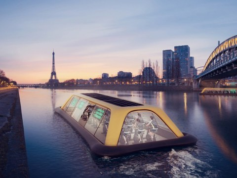 This floating glass gym in Paris will be powered by workout-generated energy