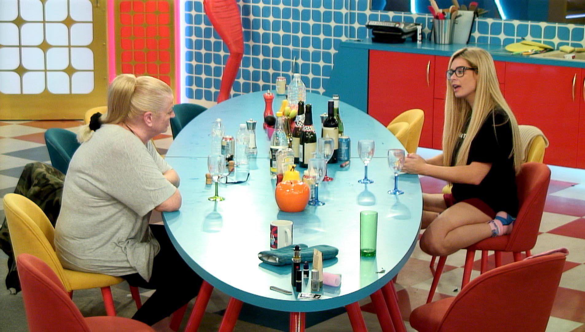 Kim and Nicola talk it out (Picture: Channel 5)