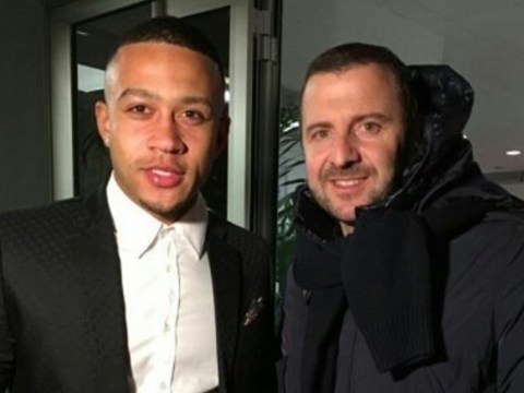 Manchester United flop Memphis Depay pictured in Lyon ahead of imminent transfer move