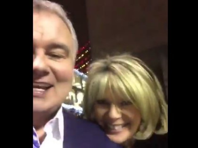 Eamonn and Ruth seemed a bit tipsy in a video they shared on Twitter (Picture: Twitter)