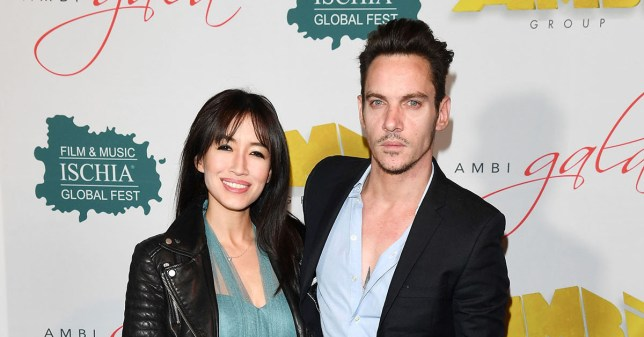 ROME, ITALY - MAY 07: Jonathan Rhys Meyers and Mara Lane attend AMBI GALA in honor of Antonio Banderas and Jonathan Rhys Meyers on May 07, 2016 in Rome, . (Photo by Venturelli/Getty Images)