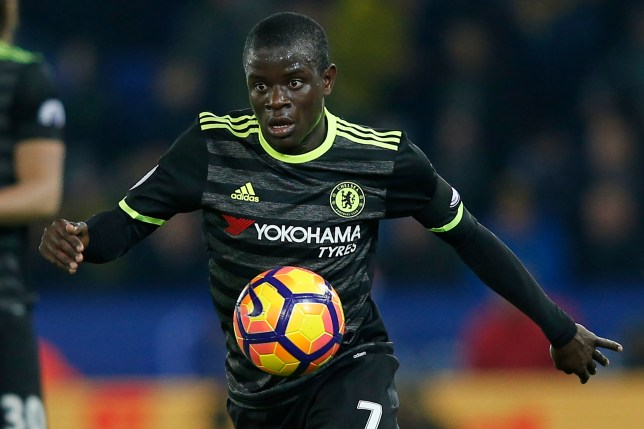 Chelsea's French midfielder N'Golo Kante controls the ball during the English Premier League football match between Leicester City and Chelsea at King Power Stadium in Leicester, central England on January 14, 2017. / AFP / Adrian DENNIS / RESTRICTED TO EDITORIAL USE. No use with unauthorized audio, video, data, fixture lists, club/league logos or 'live' services. Online in-match use limited to 75 images, no video emulation. No use in betting, games or single club/league/player publications.  /         (Photo credit should read ADRIAN DENNIS/AFP/Getty Images)