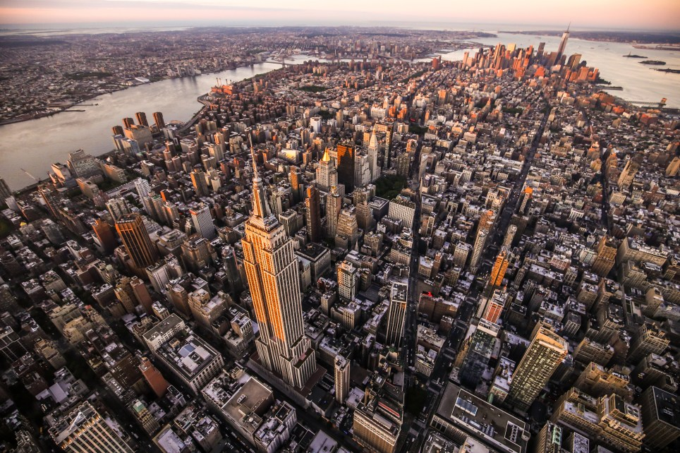 """""""Aerial view over Empire State Building, Manhattan"""""""