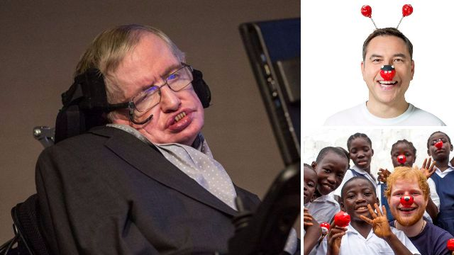 Stephen Hawking was asked to make snot jokes for Red Nose Day