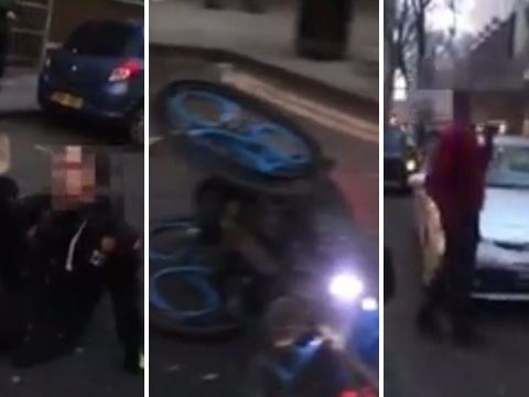 Uber driver 'punched disabled cyclist in the face and knocked him out cold'