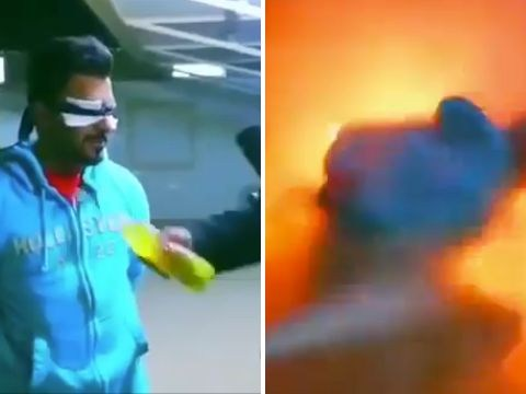 TV host sets guest on fire 'for a prank'