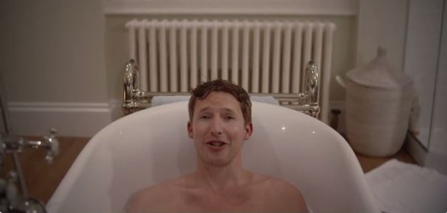 James Blunt announces his new album from his bath (Picture: Twitter)