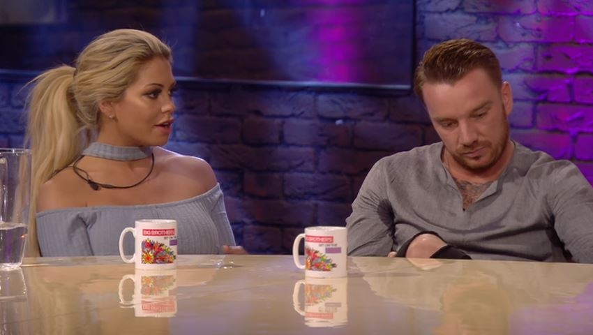 Jamie O'Hara was left devastated after finding out about Bianca's boyfriend (Picture: Channel 5)