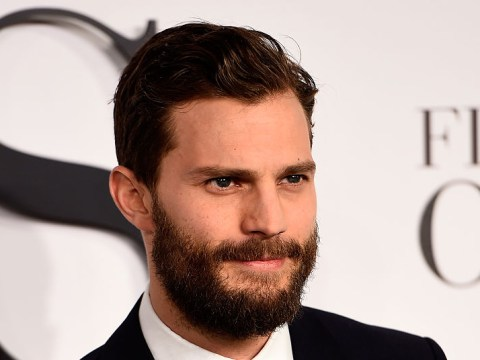 It's Fifty Shaves of Grey! Yep, Jamie Dornan's got a drastic new hair style, or lack thereof