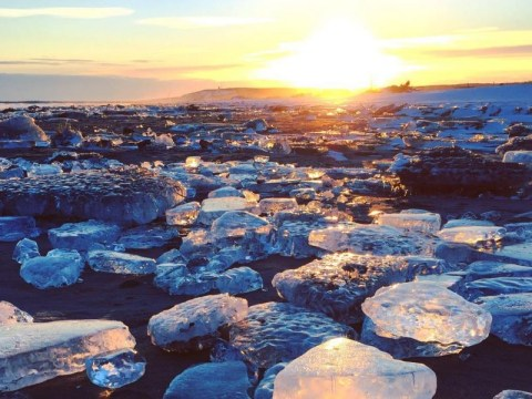 Every winter, magical jewel ice washes up on Japan's shores