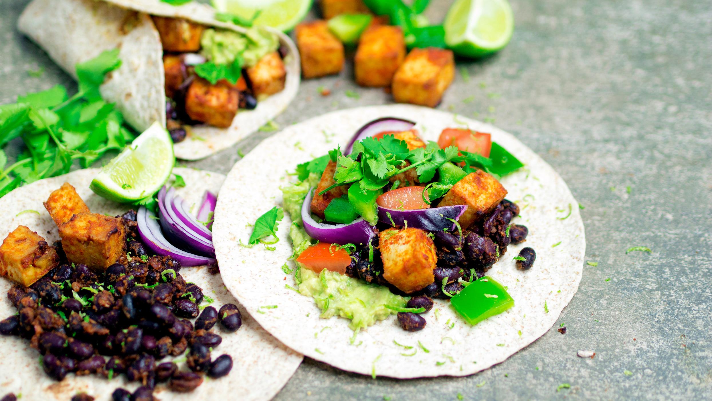 Vegan recipe video: Here's how to make Mexican tofu and black bean wraps