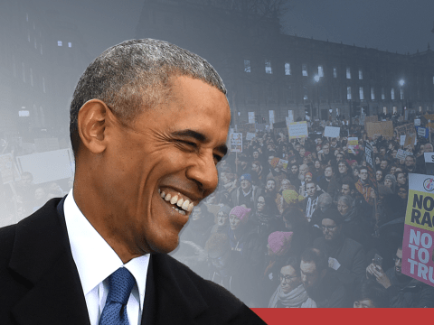 Barack Obama 'heartened' by protests against travel ban