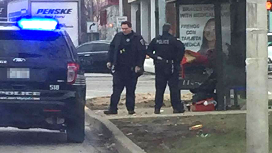 Cops buy boots for homeless man when realising his shoes have no soles