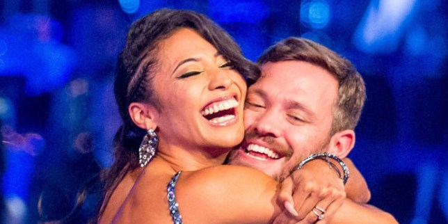 Karen Clifton and her ex dance partner Will Young (Picture: BBC)