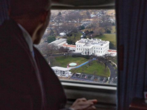 Obama bidding farewell to the place he called home for 8 years is as poignant as you'd imagine