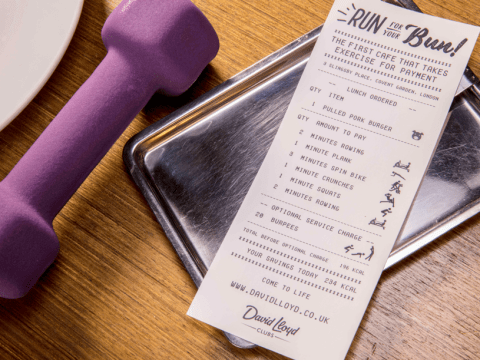 Covent Garden cafe lets you pay for your lunch with a 10 minute work out