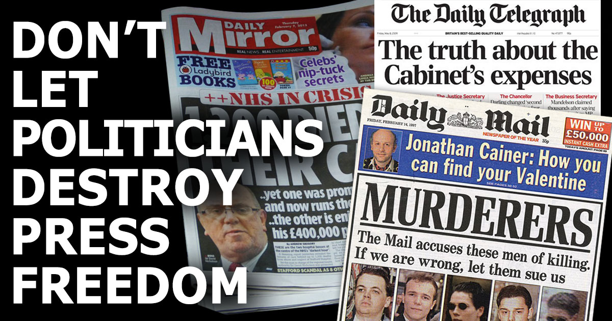Don't let politicians destroy press freedom, act now