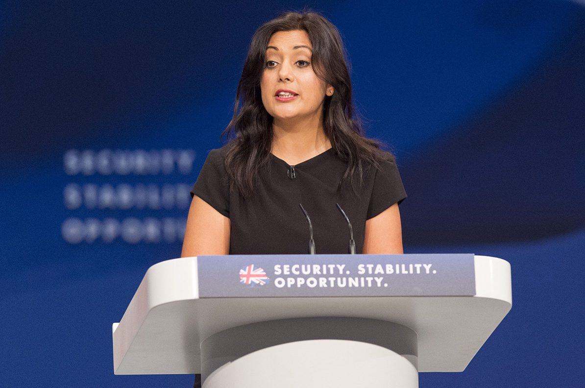 Mandatory Credit: Photo by Ray Tang/REX/Shutterstock (5224422cu) Nusrat Ghani Conservative Party Conference, Manchester, Britain - 06 Oct 2015