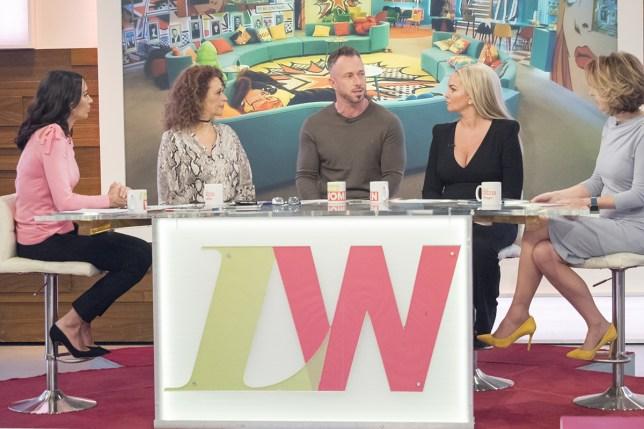 """""""James Jordan reveals explosive Celebrity Big Brother fight scenes with Calum Best weren't aired"""" (Loose Women) credit Rex"""