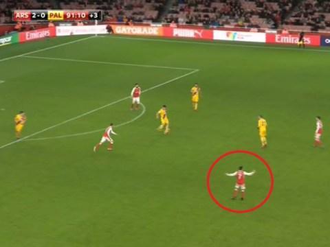 Alexis Sanchez visibly fuming at final whistle despite Arsenal winning 2-0 against Crystal Palace