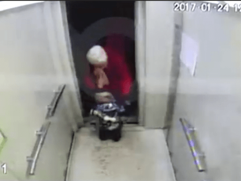 Nannies manage to leave a two-year-old behind in a lift