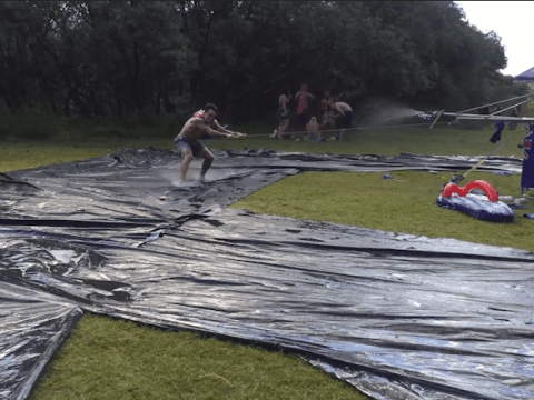 These guys created the ultimate slip and slide for Australia Day