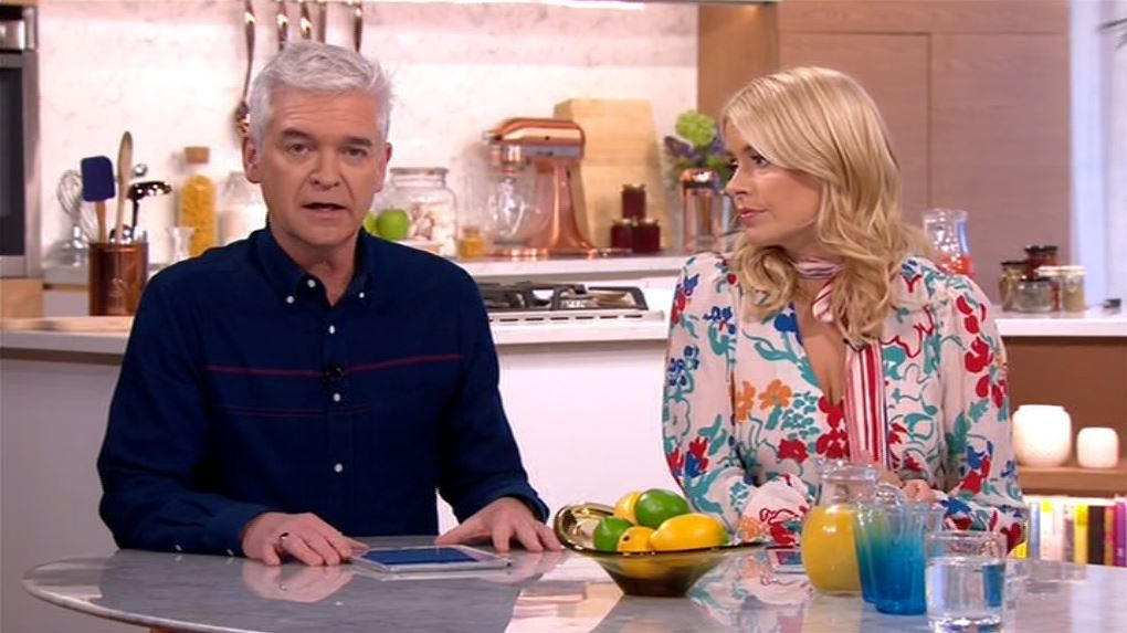 Philip Schofield and Holly Willoughby told audiences how a guest had collapsed (Picture: ITV)