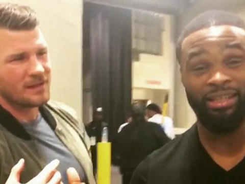 UFC champions Michael Bisping and Tyron Woodley agree to fight at catchweight