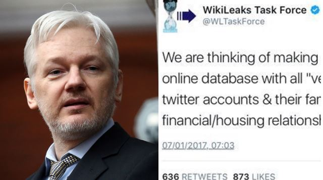 Wikileaks criticised after proposing Twitter user database