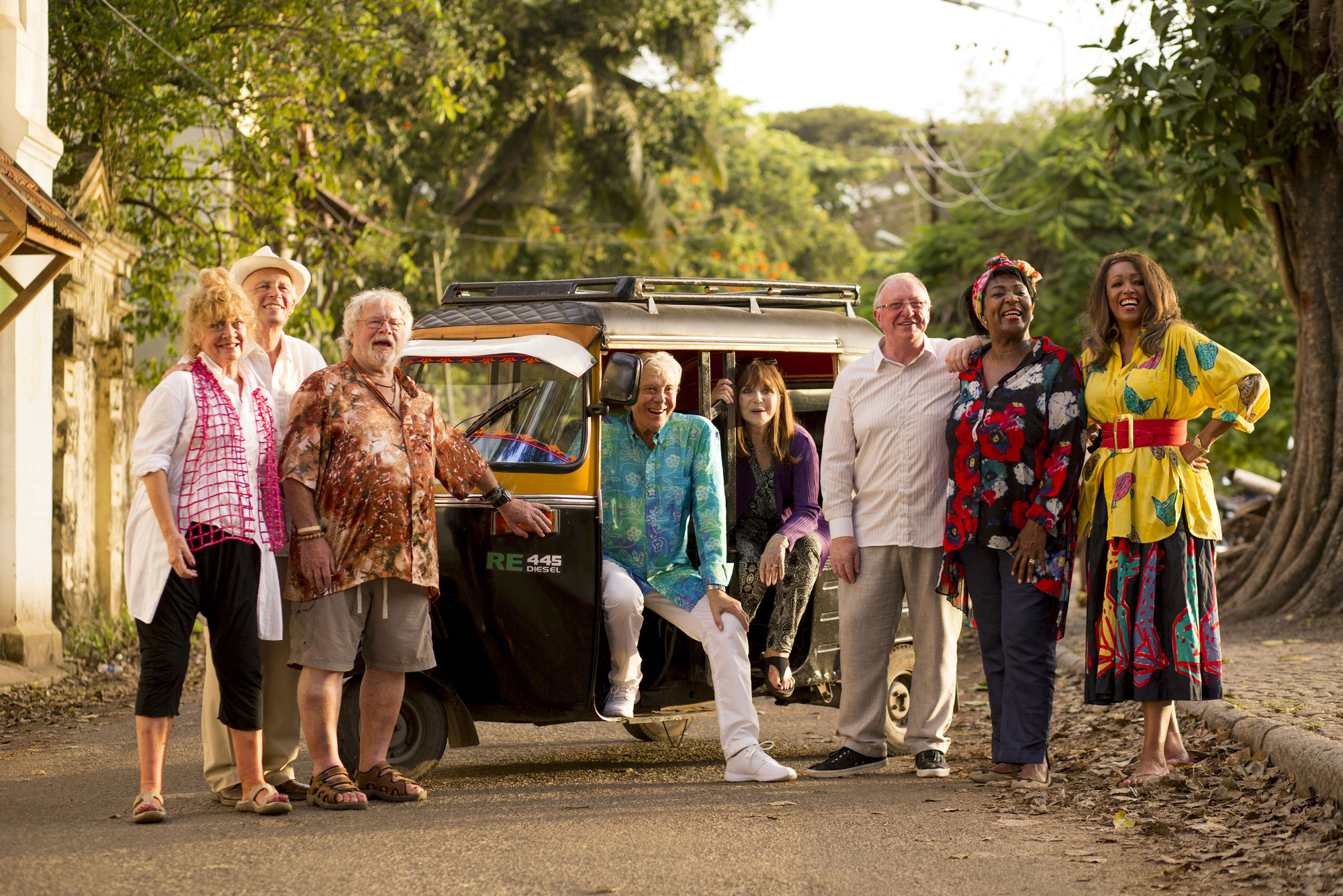 Bill, third from left, is starring in The Real Marigold Hotel (Picture: Channel 4)