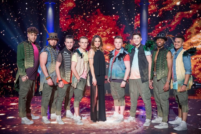 WARNING: Embargoed for publication until 00:00:01 on 31/01/2017 - Programme Name: Let It Shine - TX: n/a - Episode: n/a (No. 5) - Picture Shows: Kyle, Hercules, Nicky, Danny, Melanie C, Bradley, Huw, Julius, Jason - (C) BBC - Photographer: Guy Levy