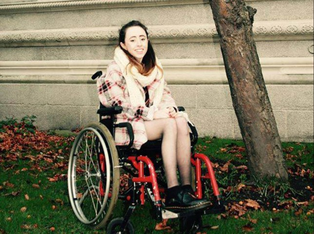 Niamh Herbert - Ryanair asks wheelchair user to walk up stairs, leaves her crying at the gate Credit: Niamh Herbert