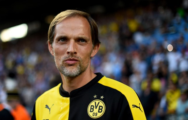 BOCHUM, GERMANY - JULY 17: Head coach Thomas Tuchel looks on during a preseason friendly match between VfL Bochum and Borussia Dortmund at Rewirpower Stadium on July 17, 2015 in Bochum, Germany. (Photo by Lars Baron/Bongarts/Getty Images)