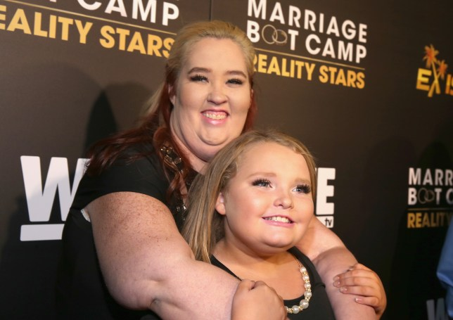 "LOS ANGELES, CA - NOVEMBER 19: TV personalities June ""Mama June"" Shannon (L) and Alana ""Honey Boo Boo"" Thompson attend the WE tv premiere of ""Marriage Boot Camp"" Reality Stars and ""Ex-isled"" on November 19, 2015 in Los Angeles, California. (Photo by Jonathan Leibson/Getty Images for WE tv)"