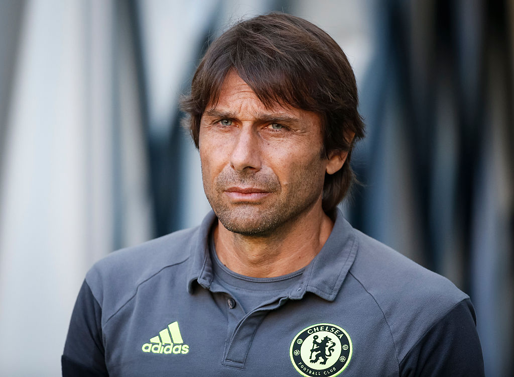 VELDEN, AUSTRIA - JULY 20: Head coach Antonio Conte of Chelsea looks on prior the friendly match between WAC RZ Pellets and Chelsea F.C. at Worthersee Stadion on July 20, 2016 in Velden, Austria. (Photo by Srdjan Stevanovic/Getty Images)