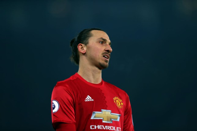 LEICESTER, ENGLAND - FEBRUARY 05: Zlatan Ibrahimovic of Manchester United during the Premier League match between Leicester City and Manchester United at The King Power Stadium on February 5, 2017 in Leicester, England. (Photo by Catherine Ivill - AMA/Getty Images)