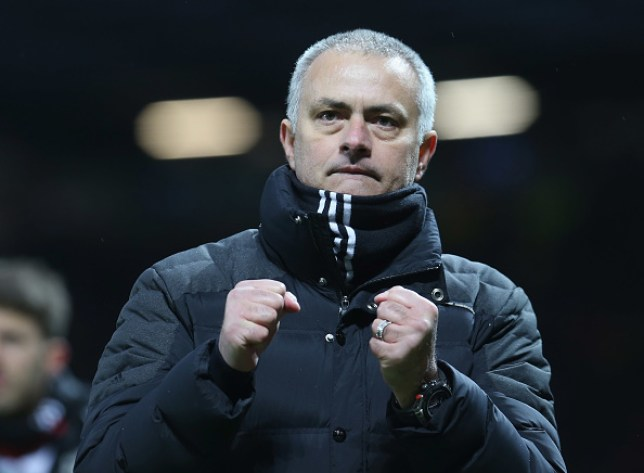 MANCHESTER, ENGLAND - FEBRUARY 11: Manager Jose Mourinho of Manchester United walks off after the Premier League match between Manchester United and Watford at Old Trafford on February 11, 2017 in Manchester, England. (Photo by John Peters/Man Utd via Getty Images)