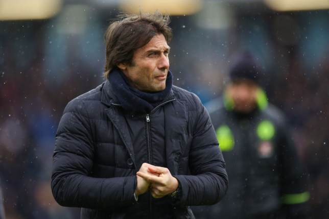 BURNLEY, ENGLAND - FEBRUARY 12: Antonio Conte head coach / manager of Chelsea during the Premier League match between Burnley and Chelsea at Turf Moor on February 12, 2017 in Burnley, England. (Photo by Robbie Jay Barratt - AMA/Getty Images)