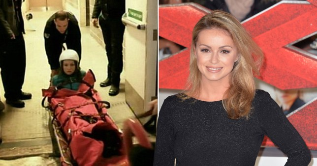 Ola Jordan says The Jump has given her permanent leg damage Credit: ITV/REX