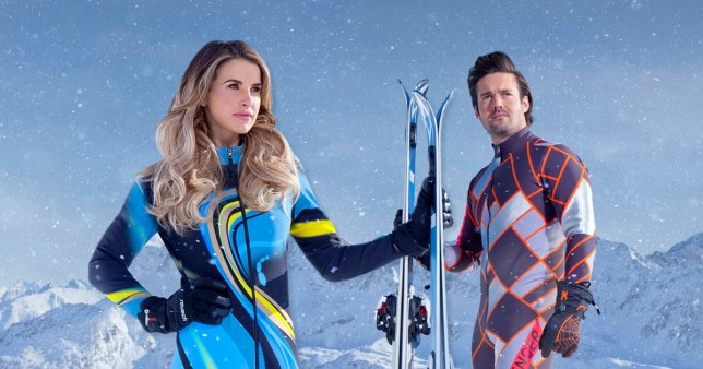 Vogue Williams blushes at suggestions she became 'good friends' with The Jump's Spencer Matthews (Picture: Channel 4/PA Wire)