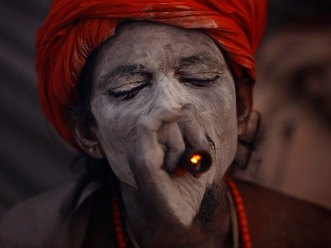 Maha Shivaratri 2017: Beautiful images show holy men smoking cannabis and smearing their bodies with ash