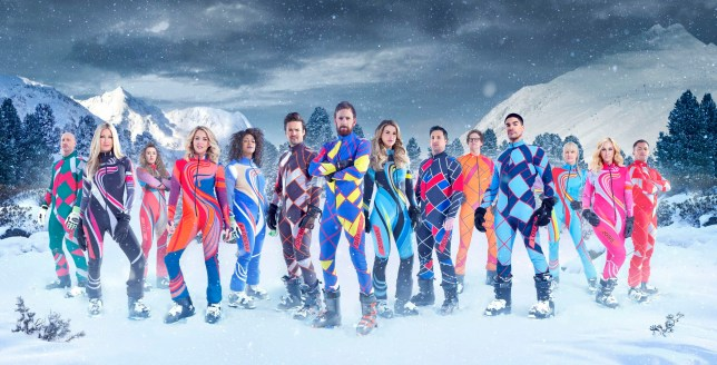 Undated handout photo issued by Channel 4 of (left to right) Gareth Thomas, Caprice Bourret, Jade Jones MBE, Lydia Bright, Kadeena Cox MBE, Spencer Mathews, Sir Bradley Wiggins, Vogue Williams, Robbie Fowler, Mark Dolan, Louis Smith, Emma Parker-Bowles, Josie Gibson and Jason Robinson OBE, the contestants in this year's Channel 4 reality sport show, The Jump. PRESS ASSOCIATION Photo. Issue date: Sunday January 29, 2017. See PA story SHOWBIZ Jump. Photo credit should read: Steve Brown/Channel 4/PA Wire NOTE TO EDITORS: This handout photo may only be used in for editorial reporting purposes for the contemporaneous illustration of events, things or the people in the image or facts mentioned in the caption. Reuse of the picture may require further permission from the copyright holder.