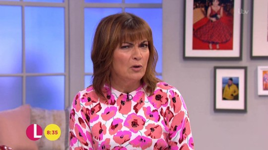 Lorraine looked puzzled about why Calum Best did not show up for his interview (Picture: ITV)