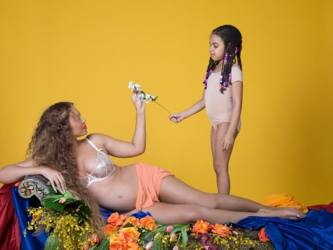 Beyonce shares more insanely sweet pictures of her baby bump, this time featuring Blue Ivy
