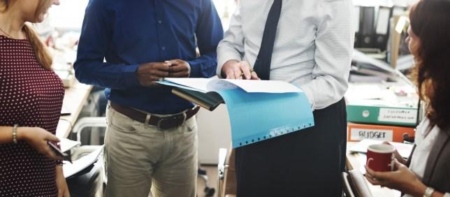 Business Team Working Office Worker Concept; Shutterstock ID 370328252