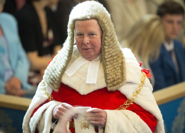 Mandatory Credit: Photo by Geoff Pugh/REX/Shutterstock (4795608i) Lord Chief Justice of England and Wales, The Right Honourable Lord Thomas of Cwmgiedd State Opening of Parliament, London, Britain - 27 May 2015