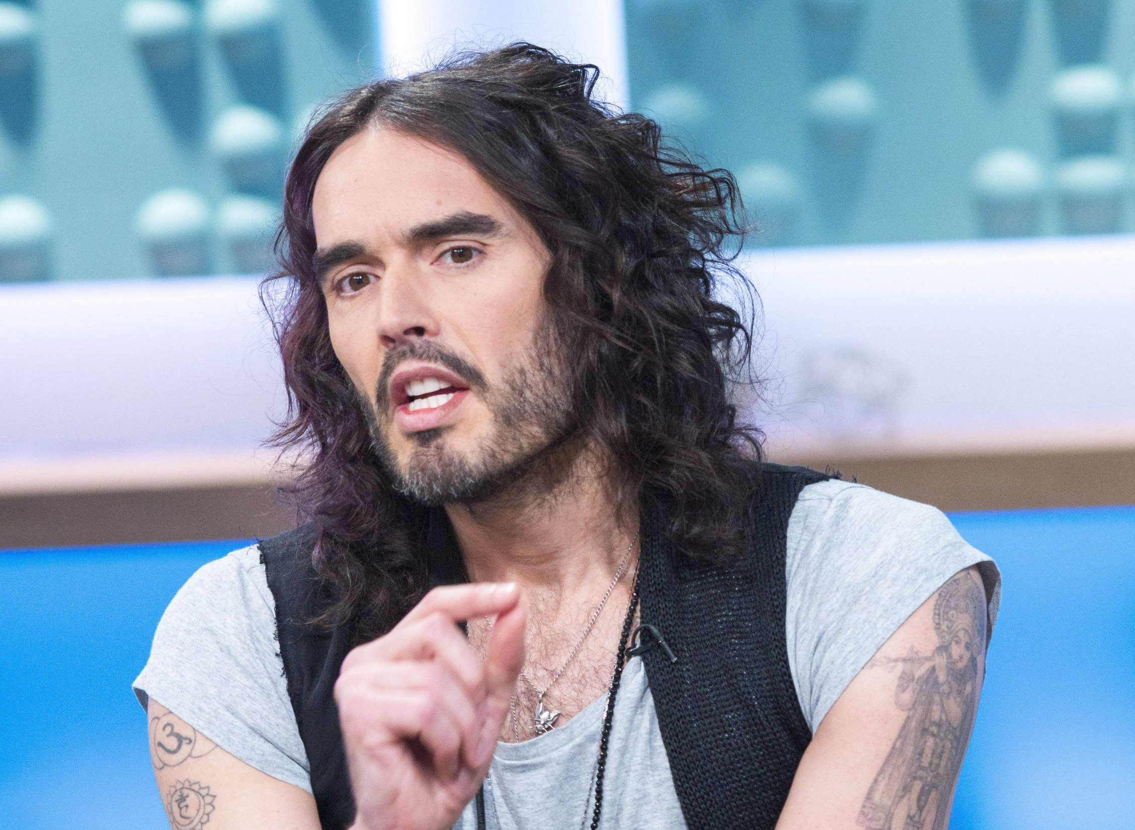 Mandatory Credit: Photo by Steve Meddle/REX/Shutterstock (8269226ef) Russell Brand 'Sunday Brunch' TV show, London, UK - 05 Feb 2017