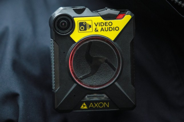 LONDON, ENGLAND - JANUARY 25: A body-worn camera (BWC) is pictured on a police officer's uniform at Brixton Police Station on January 25, 2017 in London, England. The Metropolitan Police are rolling out the use of body-worn cameras which are able to record incidents and are thought to reduce the number of complaints against police officers. (Photo by Jack Taylor/Getty Images)