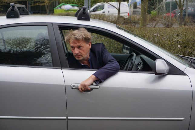 Raymond Brown from Cambridge demonstrates the Dutch reach around. See Masons copy MNREACH: Police were ridiculed yesterday (Fri) for promoting a bizarre body-contorting move designed to avoid drivers swinging their car doors open into passing cyclists. The method, dubbed the 'Dutch reach', involves motorists winding down the window and opening the door from the outside using their left hand. It's hoped the technique will reduce the number of cyclists injured through 'dooring' which was the cause of 474 accidents across the UK in 2015.